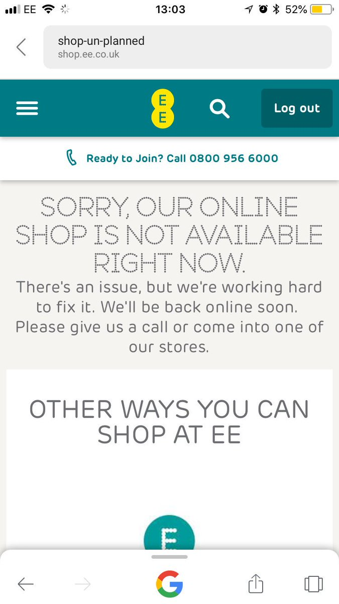 Ee On Twitter Thanks For The Screenshot Are You Logged Into