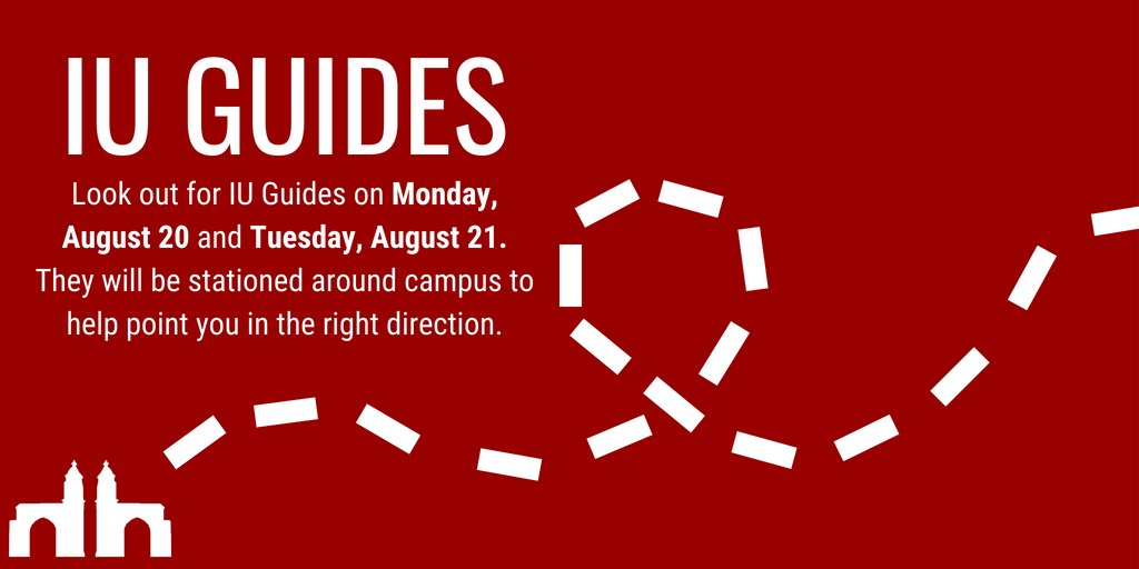 Worried about finding your classes? No worries! IU Guides will be stationed across campus to help point you in the right direction. Find IU Guides locations on the IU FYE app! <br>http://pic.twitter.com/GHLFnx5o4D