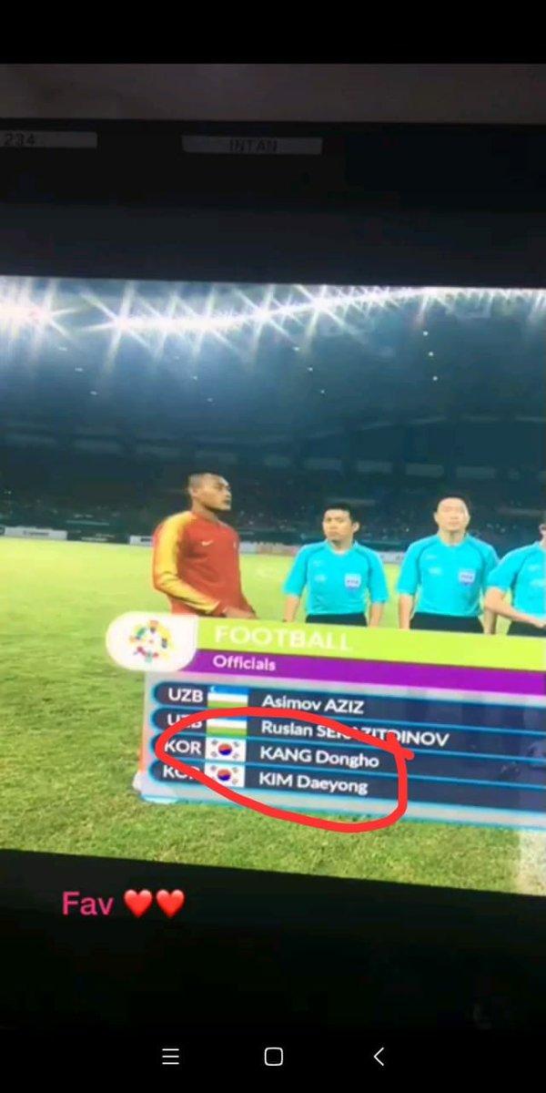 Kang Dongho is the referee for tonight&#39;s football match of Indonesia vs Hongkong on #AsianGames2018  kkkkkkkk cr @radiant_jh<br>http://pic.twitter.com/TmNMc4QdN5