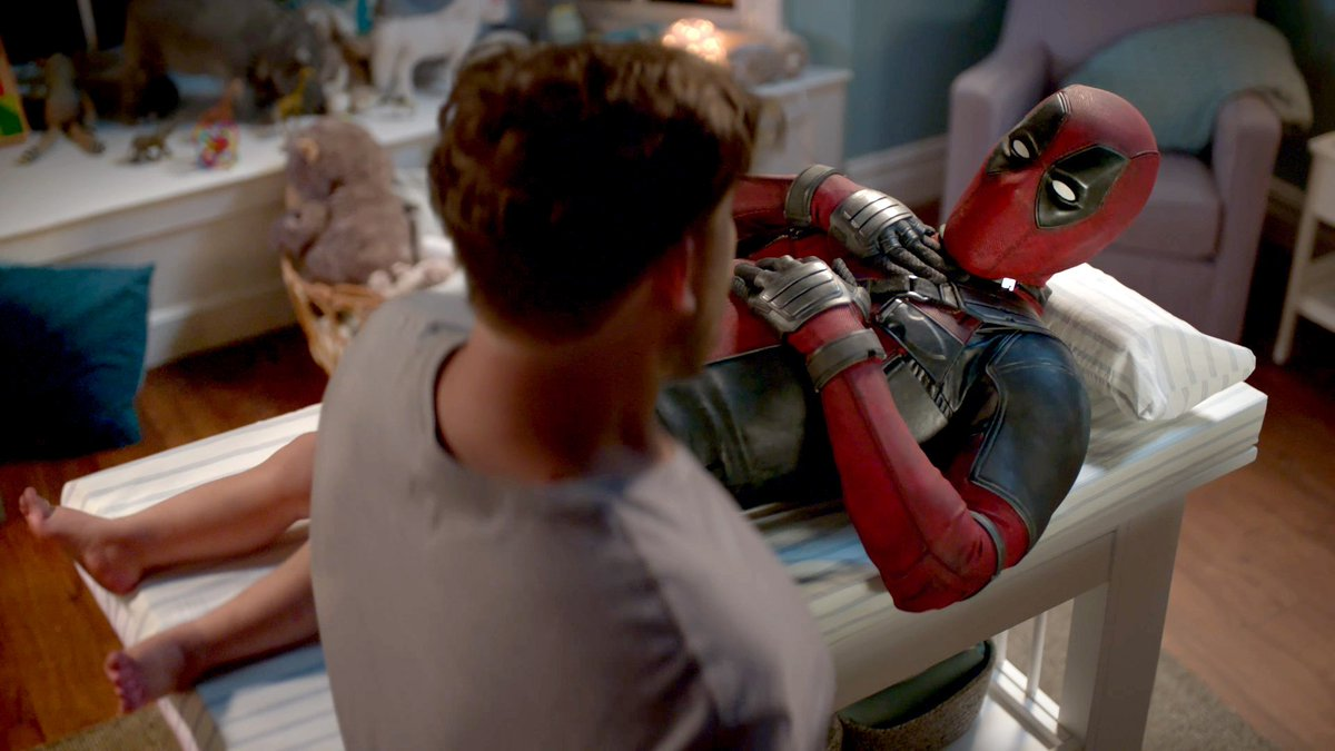 Ryan Reynolds gets his diaper changed in an all-new #Deadpool2 video