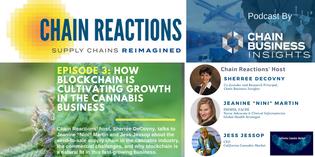 Listen to our new Chain Reactions&#39; #Podcast EPISODE 3: HOW BLOCKCHAIN IS CULTIVATING GROWTH IN THE #CANNABIS BUSINESS - Host @sdecovny talks to experts about the #seedtosale #supplychain in the #cannabisindustry and why #blockchain is a natural fit.  https:// bit.ly/2N3rVMV  &nbsp;   #SCM <br>http://pic.twitter.com/4vW8Sbb04S