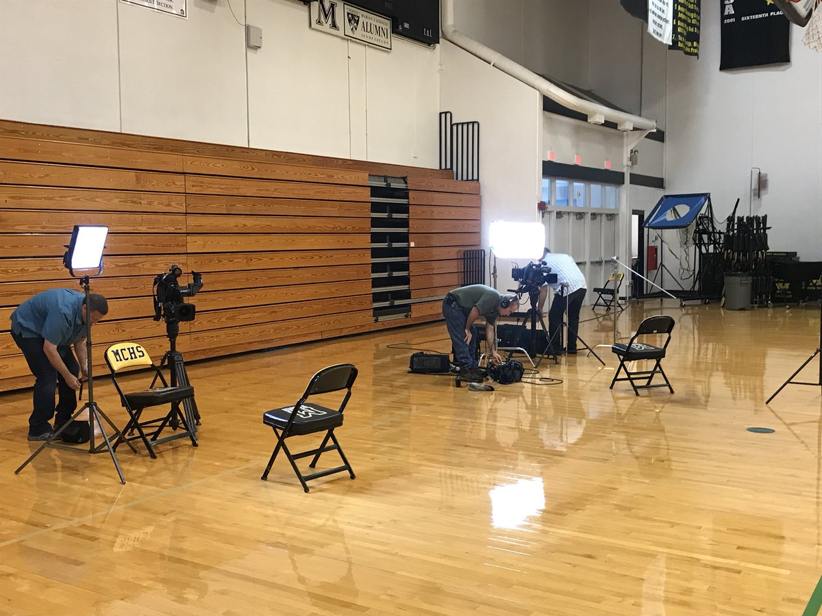 The craziness continues! On the right is Inside Edition and the left is NBC 5 Chicago! Sister Mary Jo is handling it all like the champion that she is! #GoSrMoJo