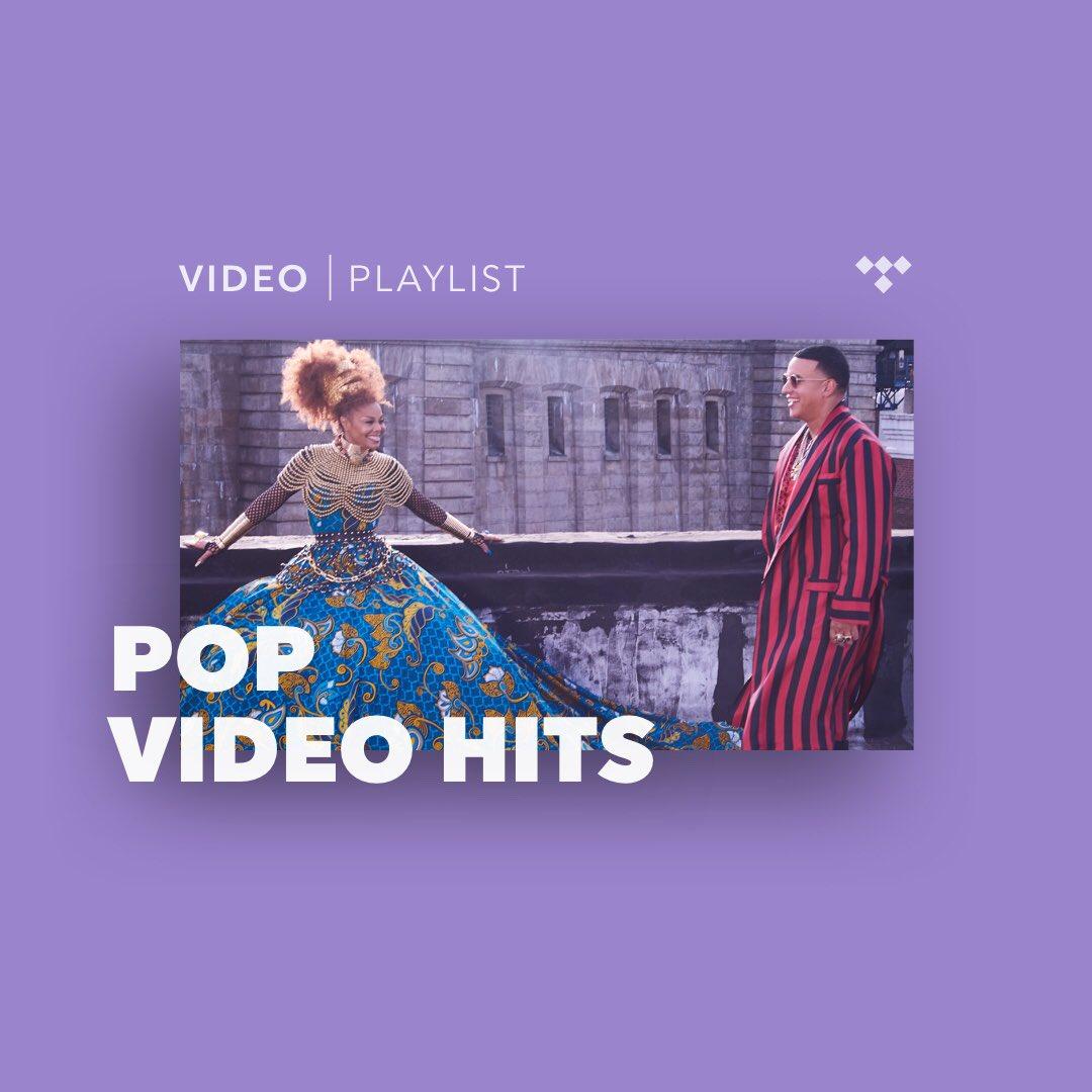 Hey u guys! #MadeForNow with @daddy_yankee is on @TIDAL's Pop Video Hits playlist: https://t.co/pH6EGW2MGB! https://t.co/KGHf8CDu6B