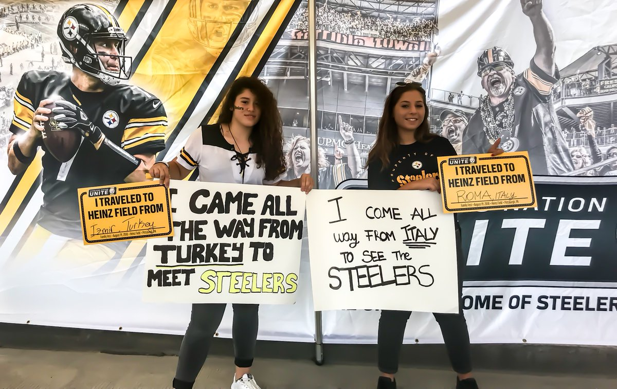 Well come from anywhere to see our team. #SteelersNation #SNUCelebrates