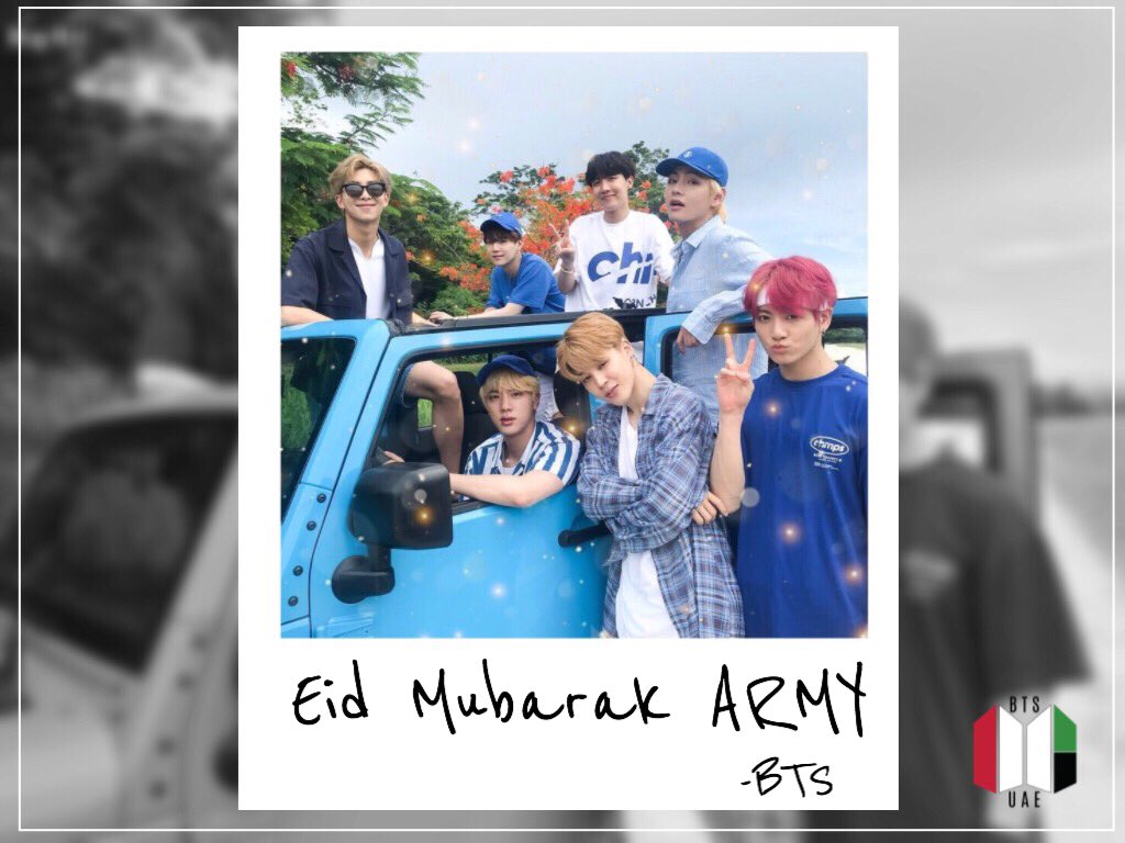 EID MUBARAK TO ALL ARMYS CELEBRATING!  May Allah bring you all joy, happiness, peace and love on this blessed occasion. We wish you and your families an Eid Mubarak <br>http://pic.twitter.com/UFyzkDe73u