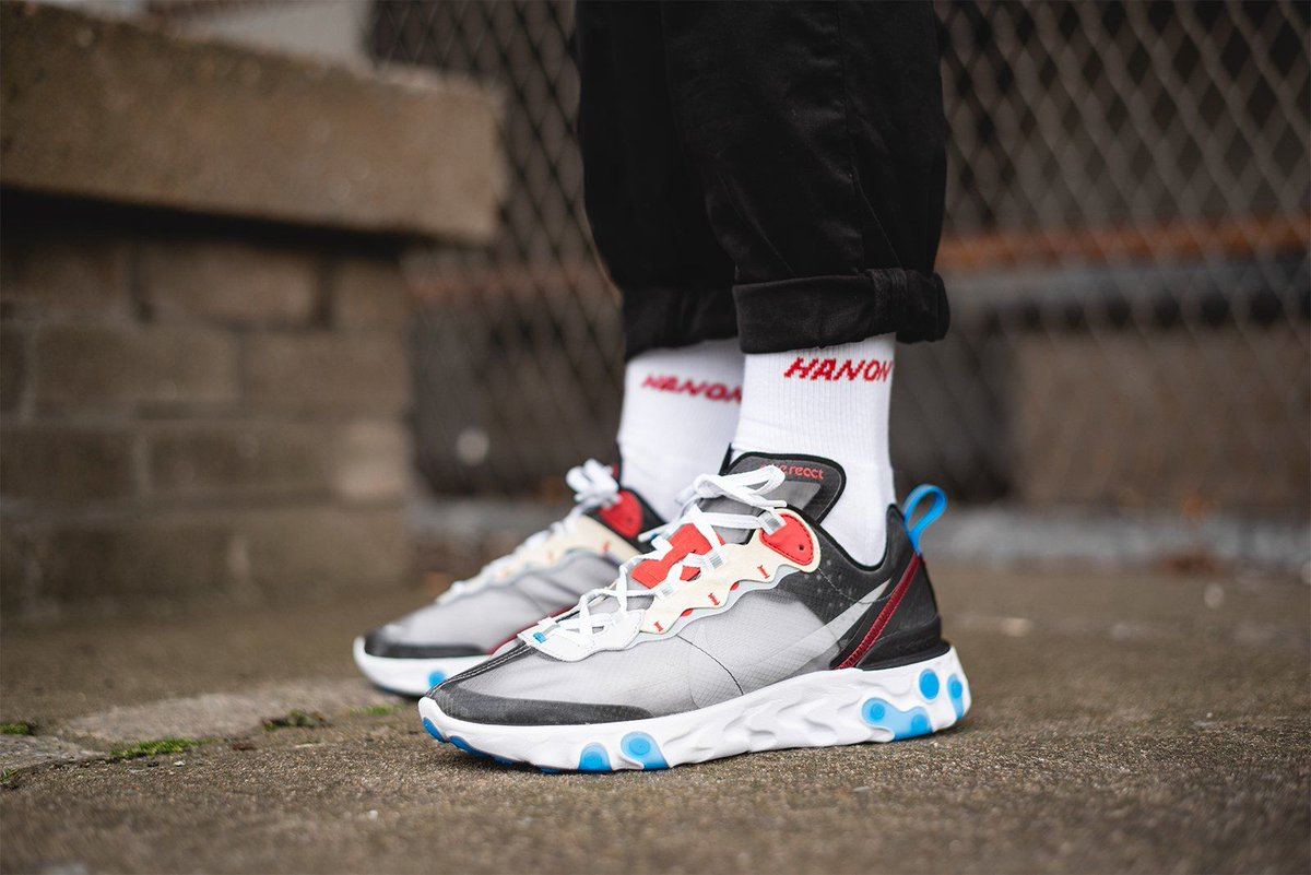 e2911aa44629 Nike React Element 87  Prequel  Back In Stock At Foot District Dark Grey     http   bit.ly 2BsBMKL Desert Sand    http   bit.ly 2vXPyzU pic.twitter.com   ...
