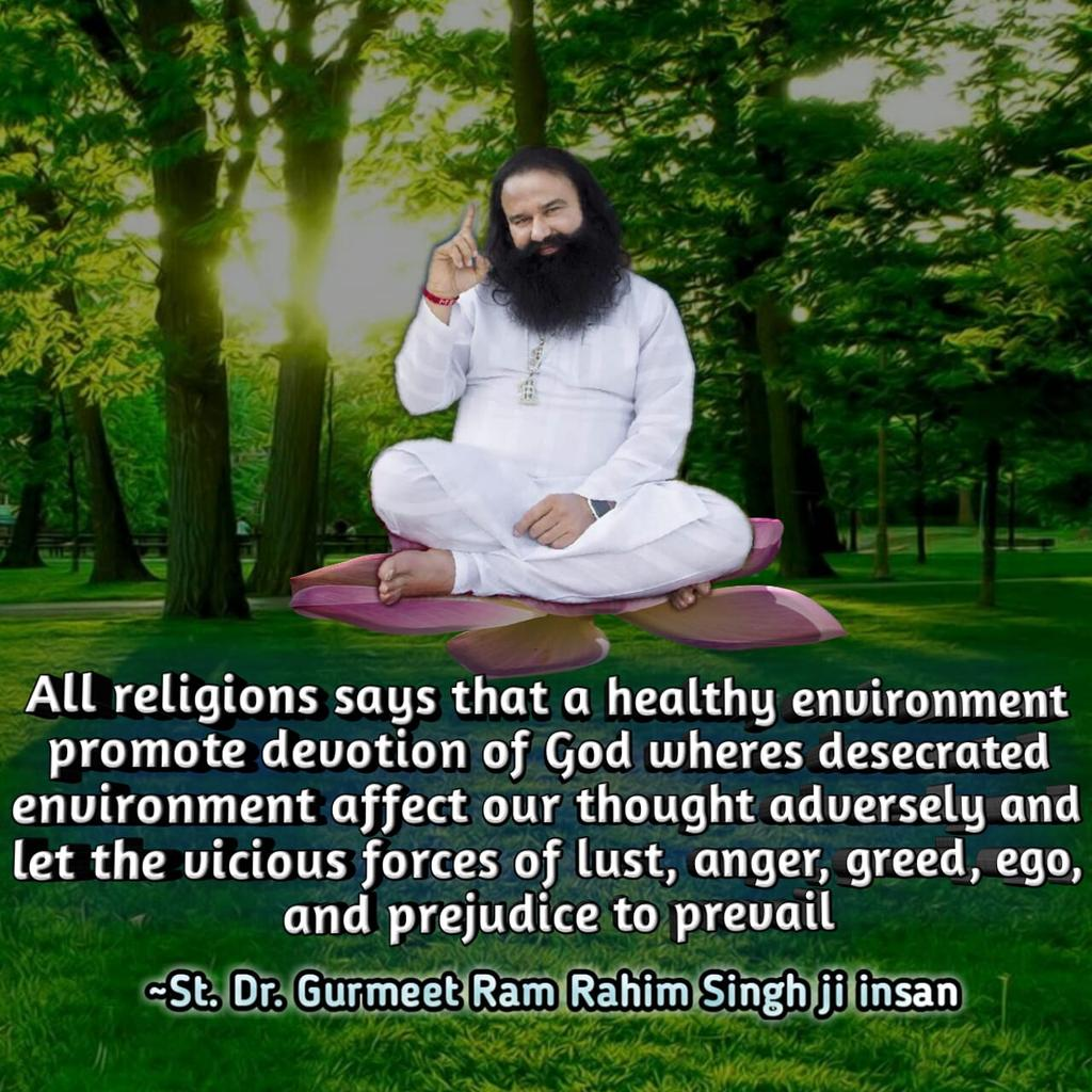 #SaveMotherEarthSaysStMSG   Trees provide us shade and shelter, help in moderating the climate, preserving soil, supporting wildlife, reducing pollution and in many other ways. <br>http://pic.twitter.com/yqEHqgKda2
