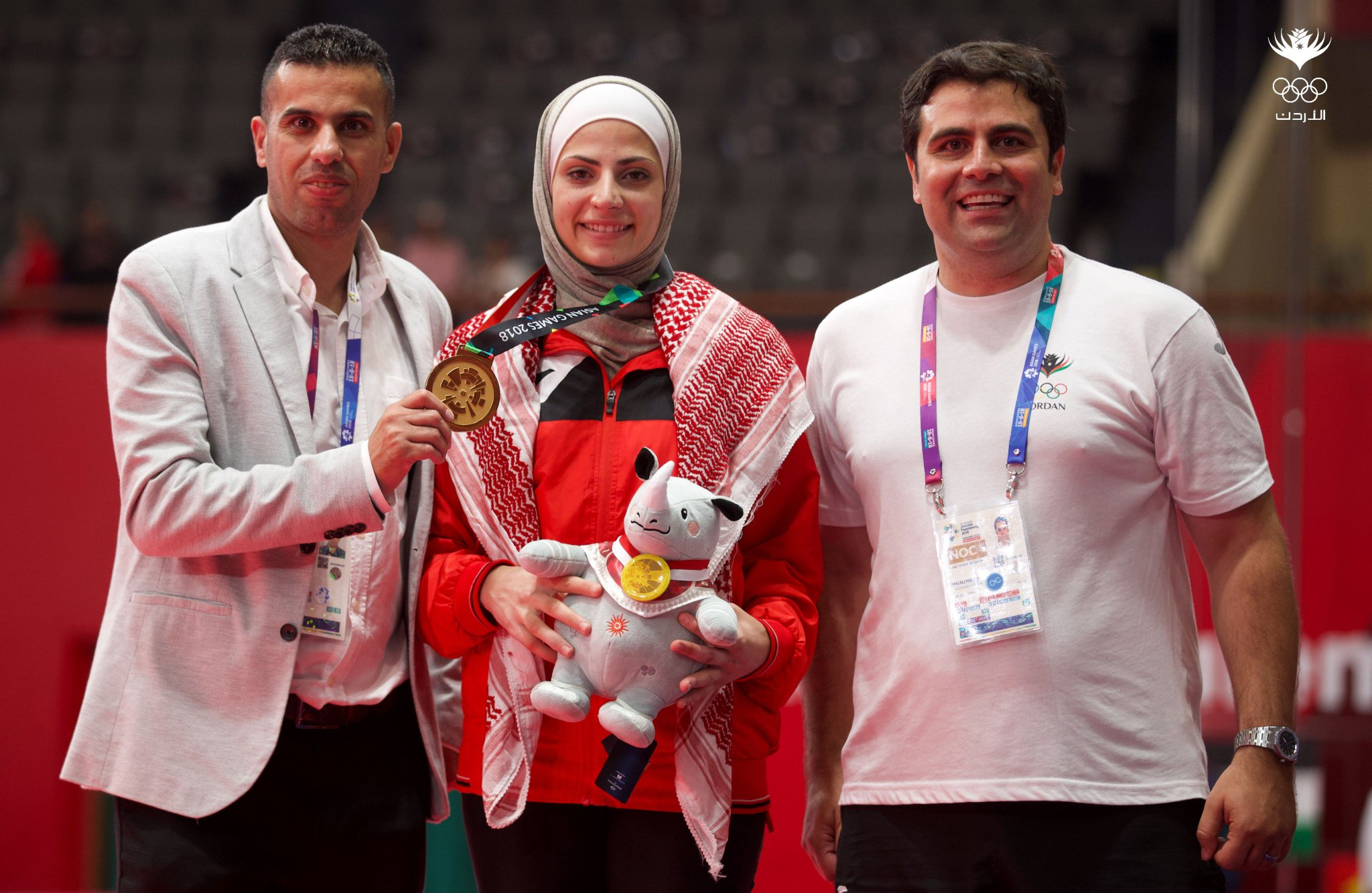 "Jordan Olympic (JOC) on Twitter: ""ASIAN GAMES GOLD FOR AL SADEQ Juliana Al  Sadeq has won gold for Jordan at the Asian Games following a superb  performance in the Taekwondo -67kg competition"