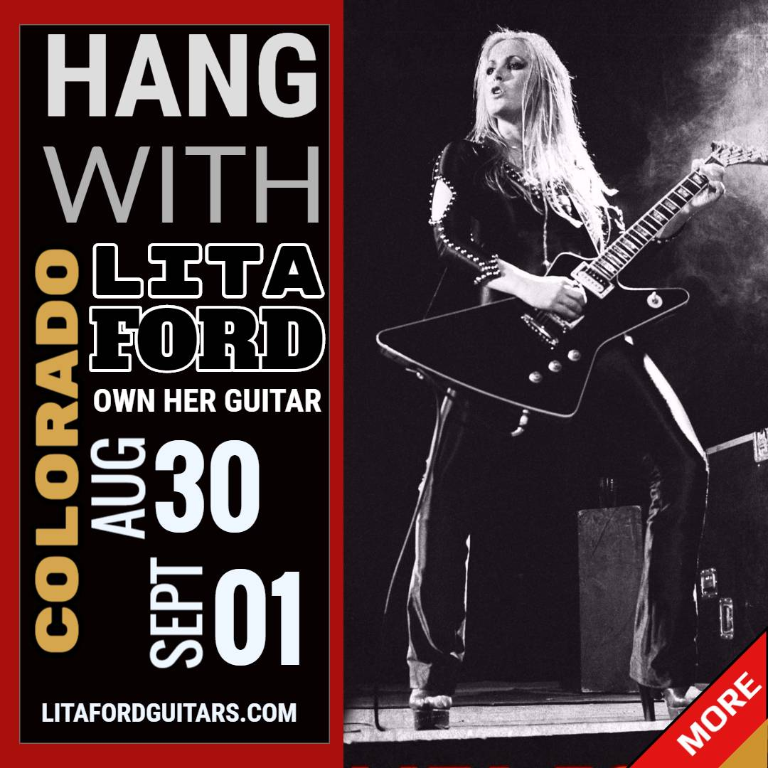 Hang out with Lita Ford in Colorado. Two Dates Available @litaford #litaford #runaways @TheRunaways litafordguitars.com