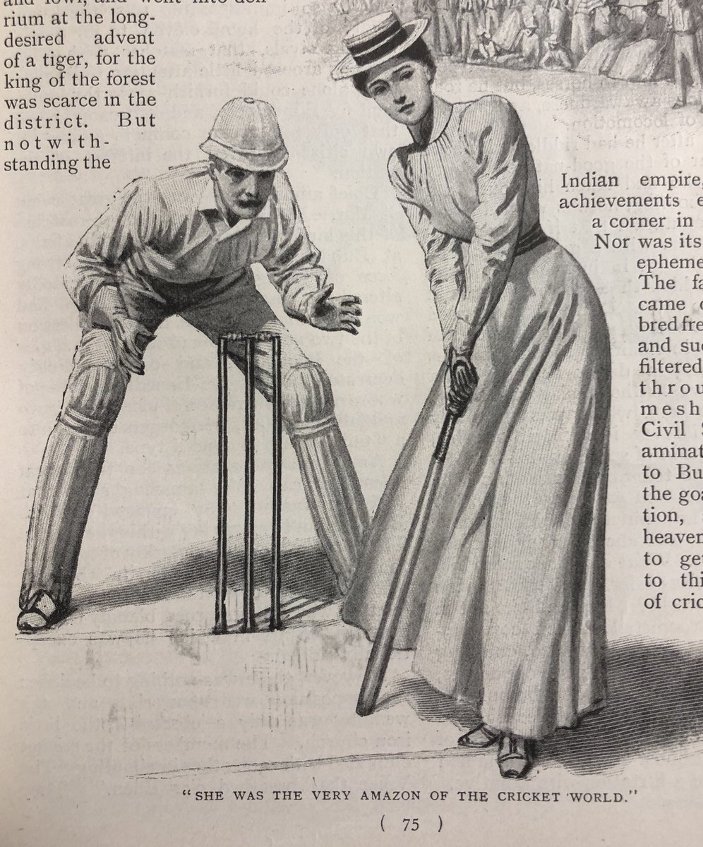 0f4b8b8651916 Harmsworth Magazine (1900) It s hard to imagine anything more Victorian  than a line-drawing of a moustachioed gentleman keeping wicket while  wearing a pith ...