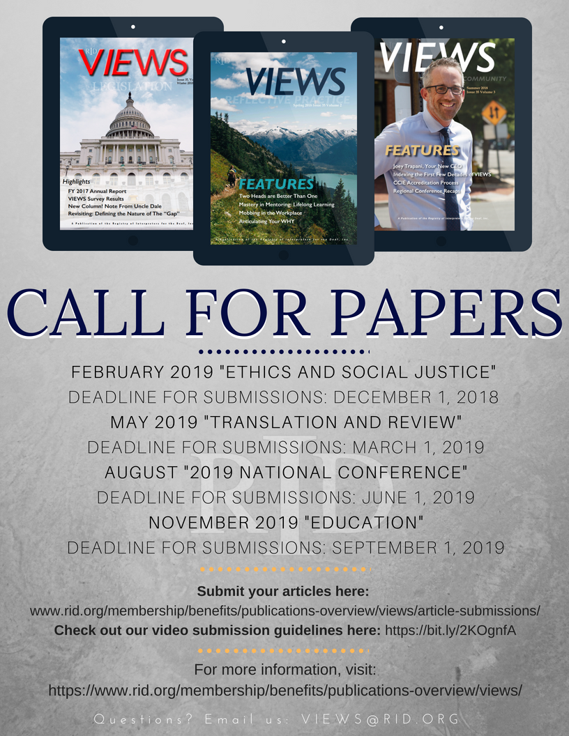 see below for the 2019 calendar year call for papers deadlines and themes email us at viewsridorg with any questionspictwittercom6tivrgaqe4