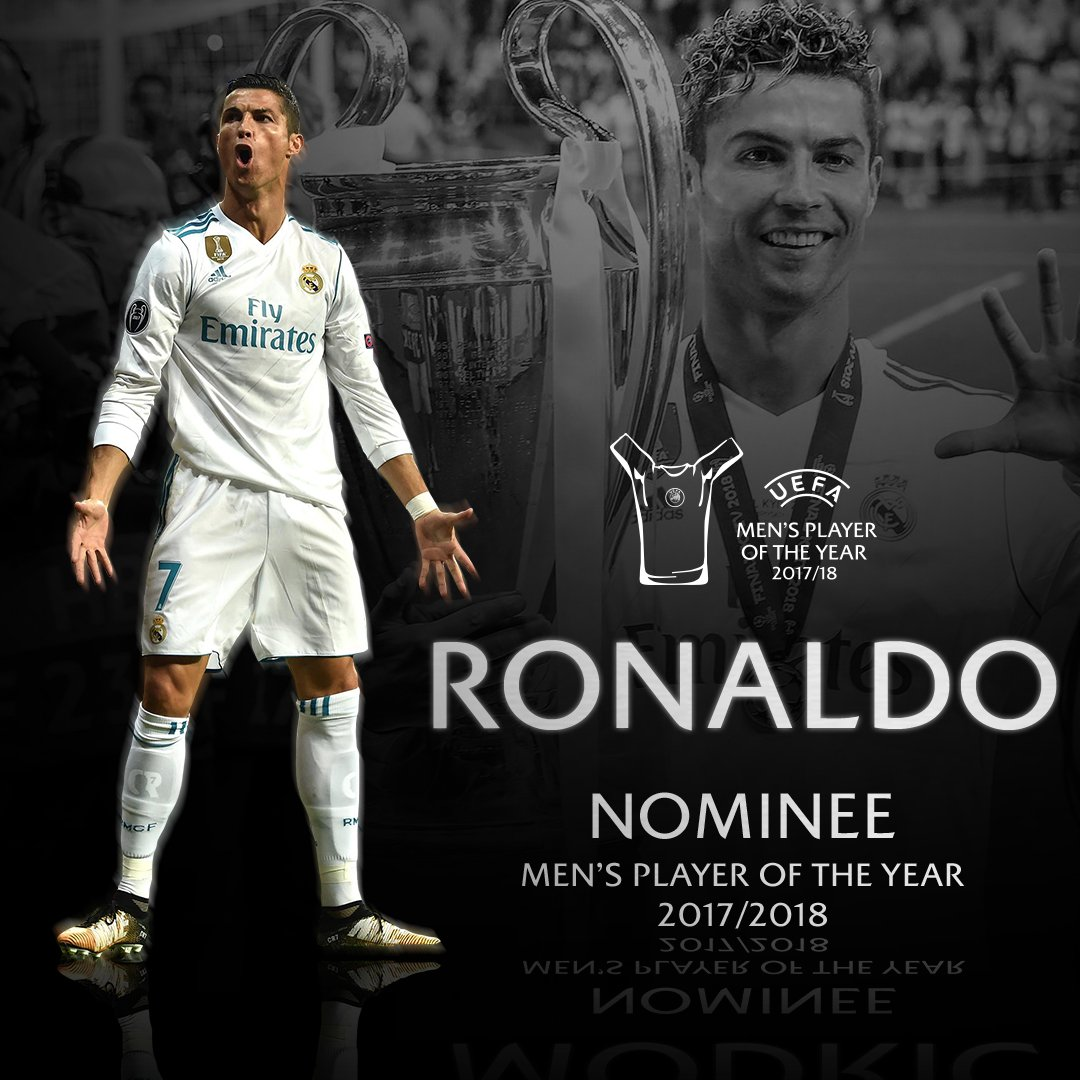 ⭐ @Cristiano Ronaldo ⭐ 🤔 E lui il vostro UEFA Mens Player of the Year 2017/18? #UCL