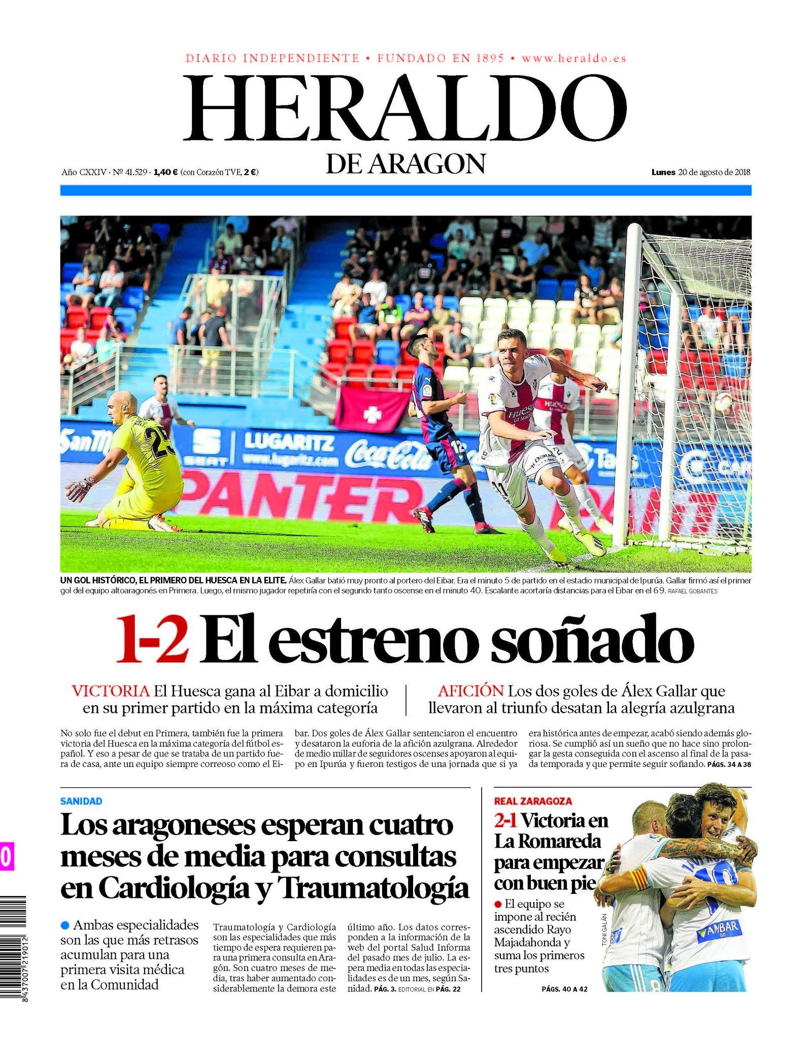 """Heraldo de Aragón on Twitter: """"Hola. Aquí puedes ver la"""