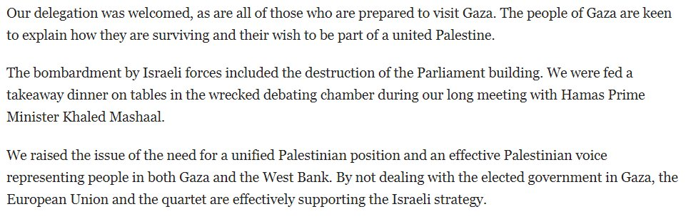 Turns out that Jeremy Corbyn's whole 'I had a takeaway with Hamas' Morning Star column was reproduced on @LabourList at the time so is available for everyone to enjoy in full: https://t.co/CJihuZdQxW