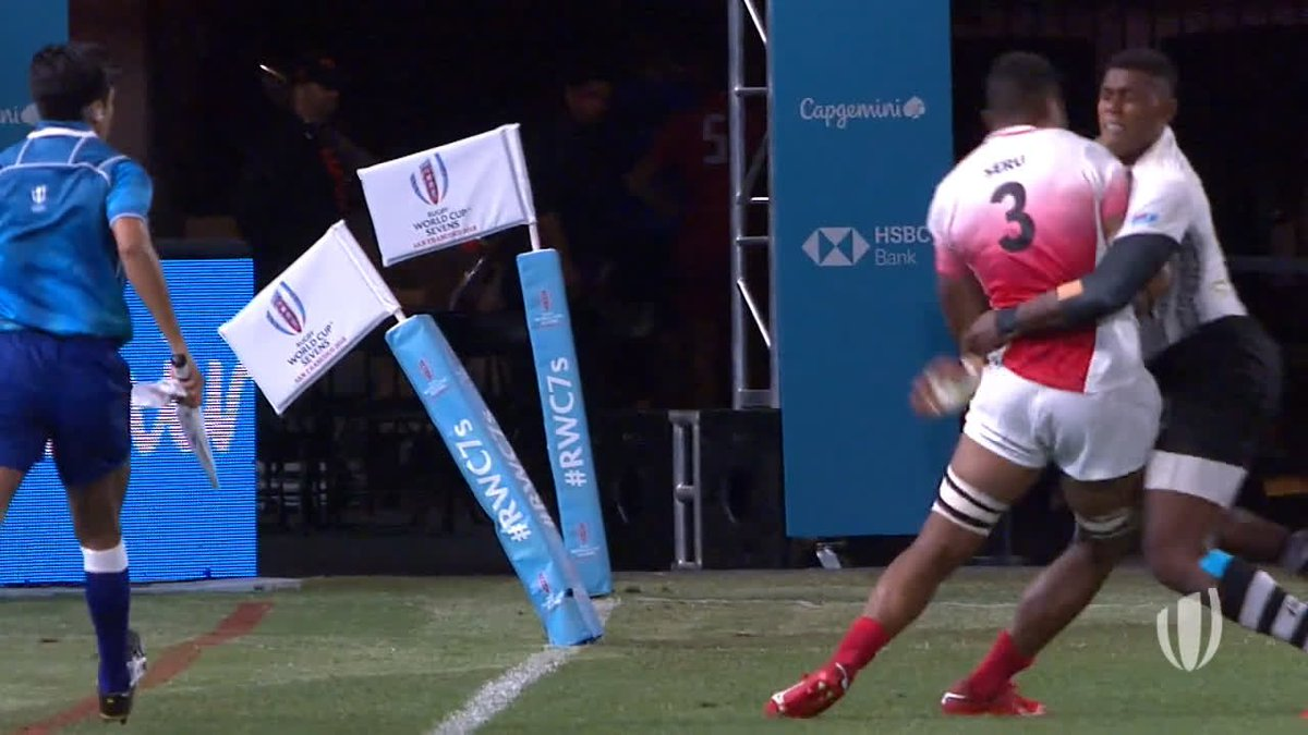 At No.2 in our most viewed videos from Rugby World Cup Sevens 2018, its Serus strength for @JRFURugby