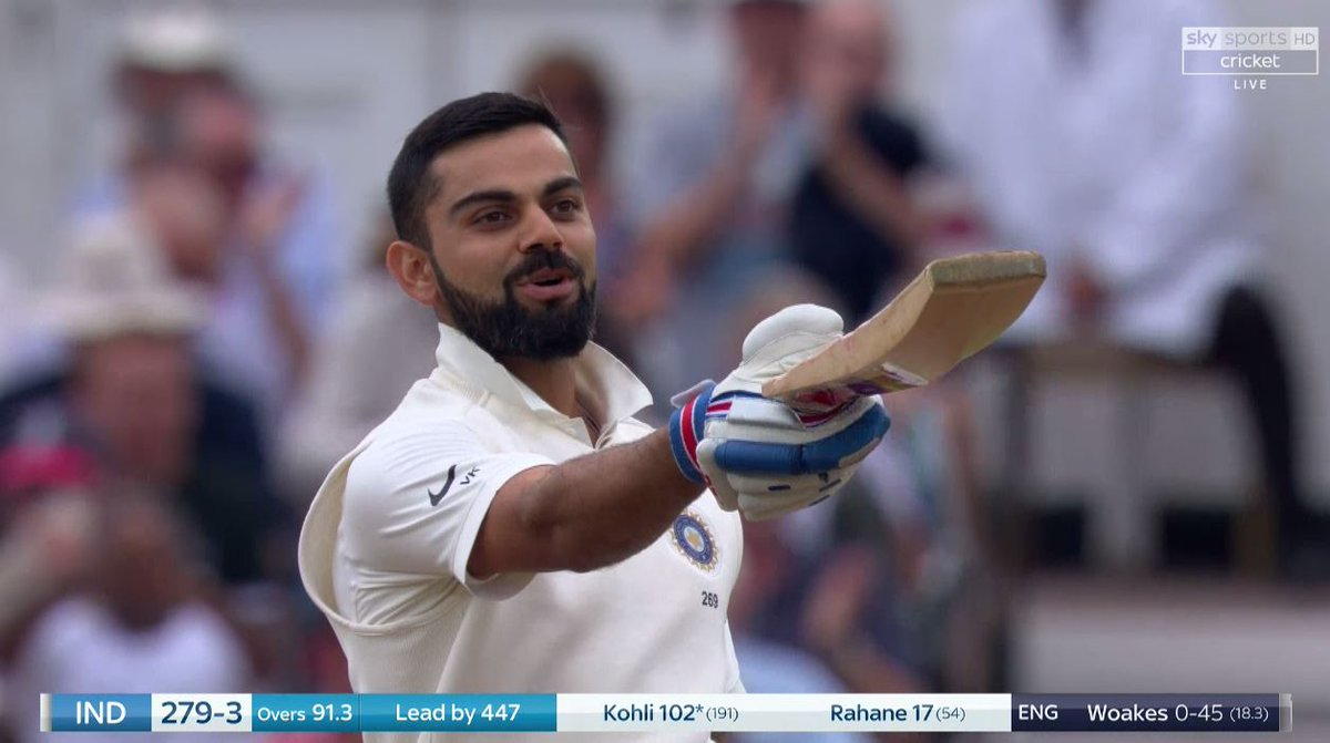 100 for Kohli! Its his second hundred of the series, but England should have had their main on 93 when Jennings completely missed a possible catch at gully Watch live on Sky Sports Cricket now or follow #EngvInd here: skysports.tv/tpaj3u