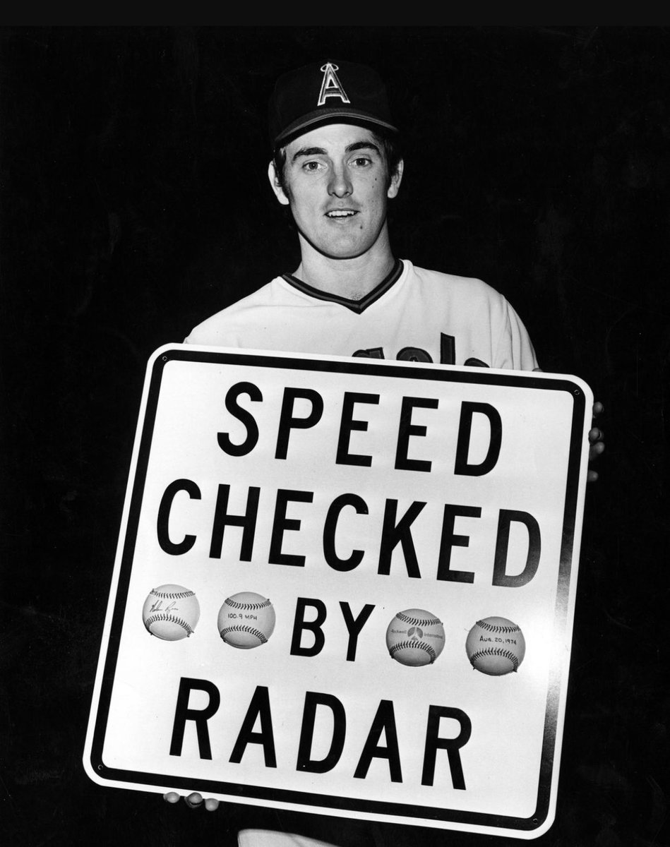 Today in 1974, Nolan Ryan is the first major league pitcher ever clocked at 100+ mph.