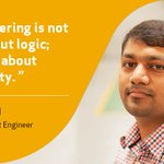 Image for the Tweet beginning: For Hari Prasad, engineering is