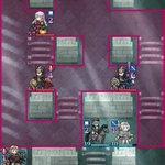 Image for the Tweet beginning: 『FEヒーローズ』絆英雄戦「ミカヤ&サザ」難度インファナル、クリア♪ 初撃を「遠距離防御」装備のフィヨルムで受けるところからスタート。 ポイントは、グリーンナイトを「緑魔殺し」装備のマークスで釣る、早めにサザをラインハルトで撃退するの2点。 リフはお好みで(えっ?w) #FEヒーローズ