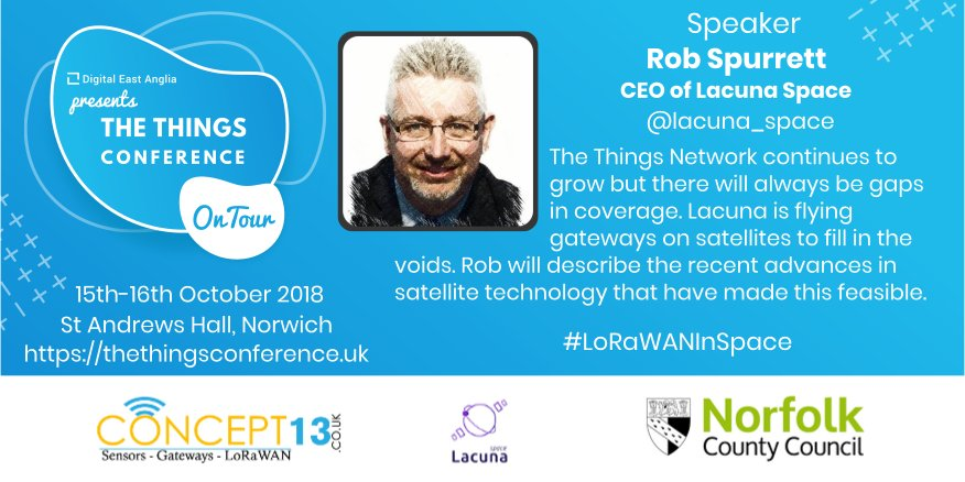 Launching #LoRaWAN: Gateways In #Orbit  The coverage of @thethingsntwrk continues to impressively grow, but there are gaps in coverage in between cities in remote locations. @lacuna_space is flying gateways on #satellites to fill in the voids   Read More:  https:// thethingsconference.uk/tribe_speaker/ rob-spurrett/#talk &nbsp; … <br>http://pic.twitter.com/2DDe9aBXRD