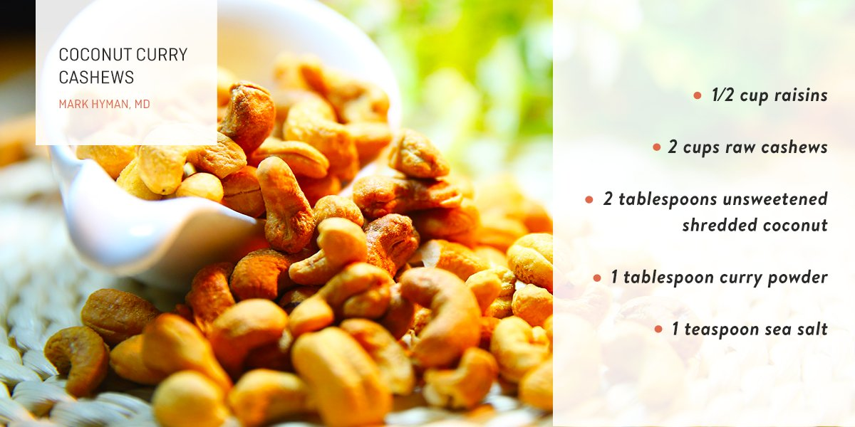 Many trail mixes and other snacks sold at stores are typically loaded with sugar. In order to avoid that unnecessary, harmful sugar, I enjoy making my own snacks at home, including this delicious twist on the traditional cashew.