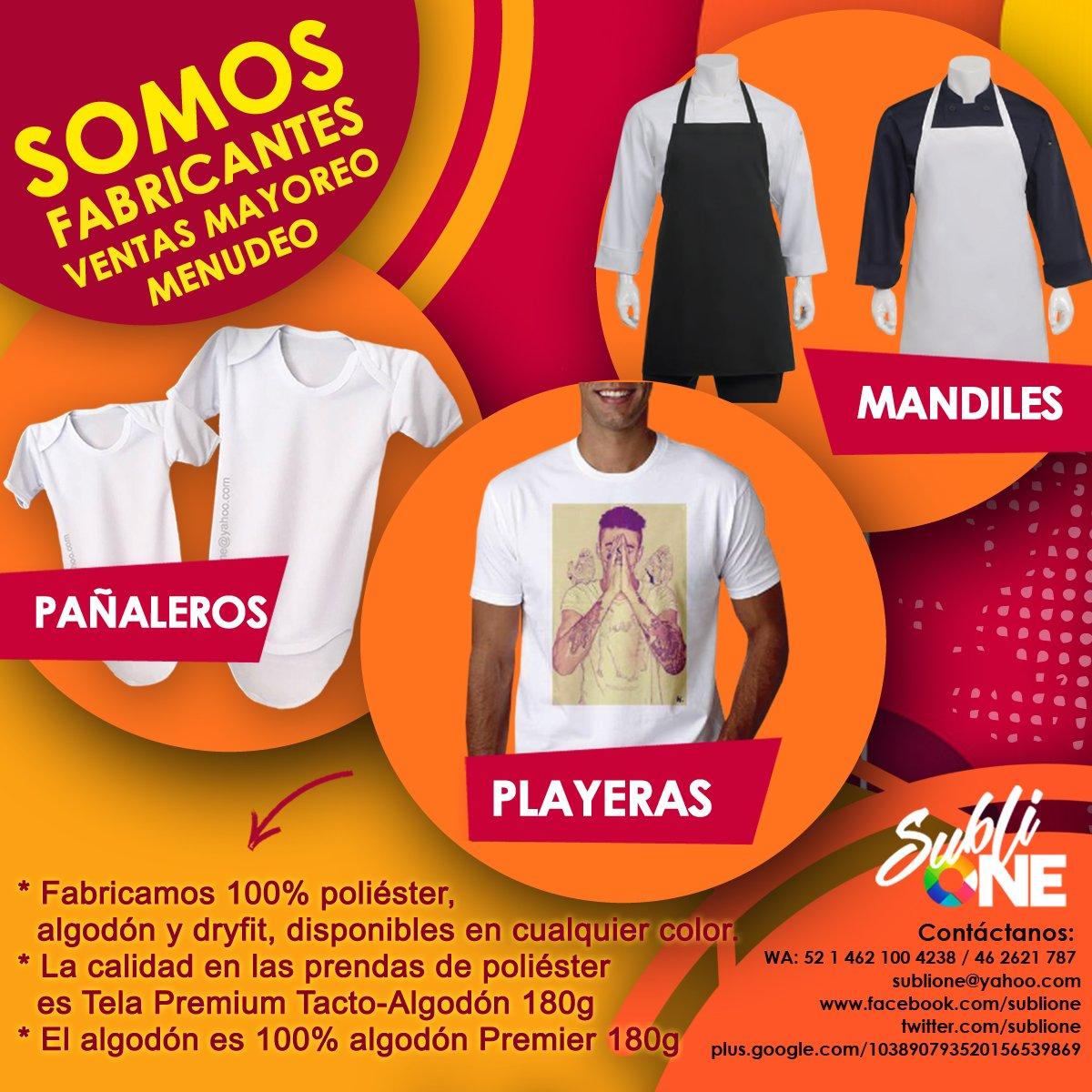 fb1370b3d01ba   Ventas Mayoreo y Menudeo     Mandiles  Pañaleros  Playeras. ¡No Te Puedes  Perder!.  Fabricantes  Mandiles  Pañaleros  Playeras  SubliOne  Mayoreo   Menudeo ...