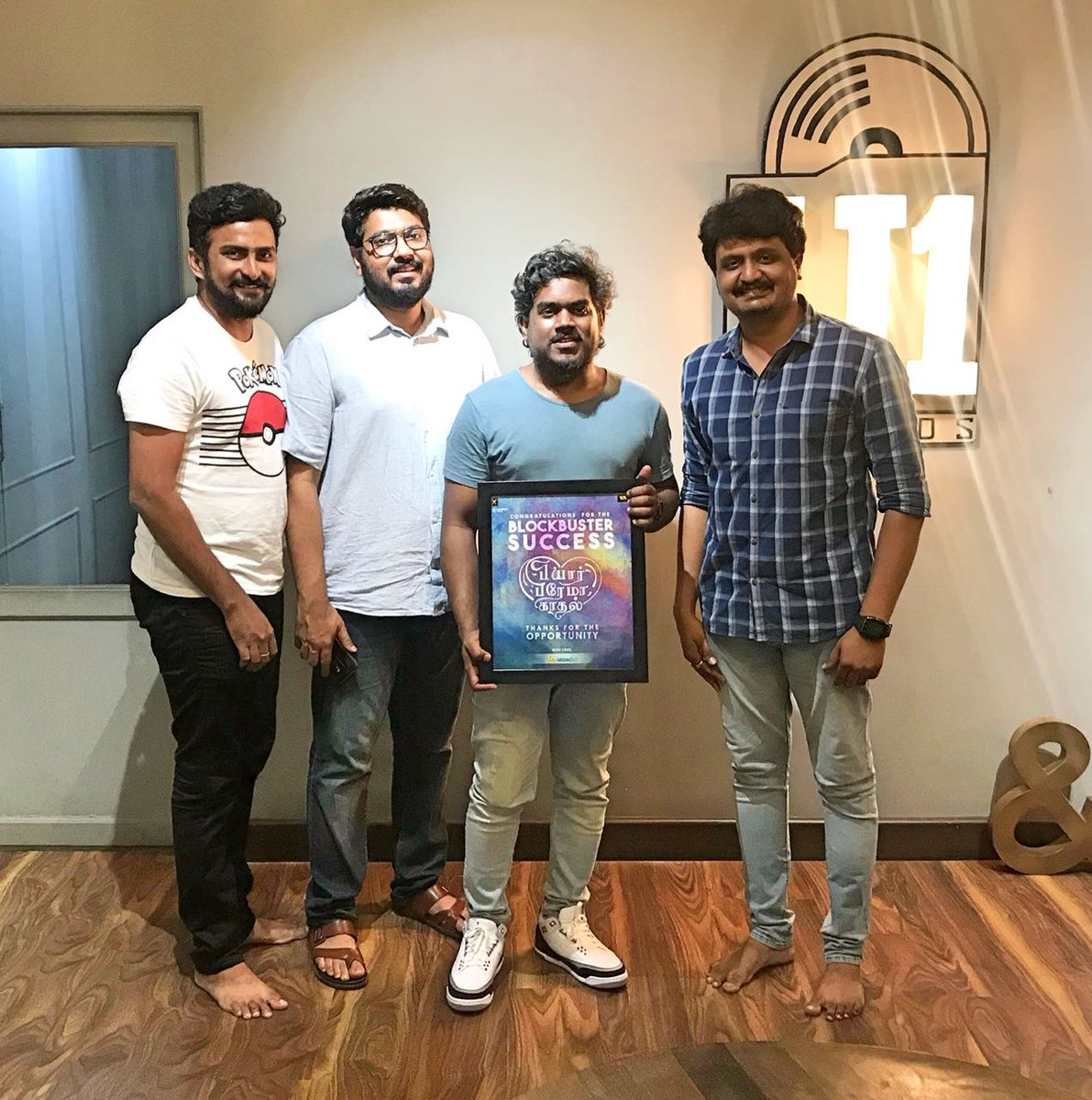 On the Occasion of #2YearsofCTCMediaboy... We met #Yuvan Sir to thank him for the opportunity to work with the Blockbuster Hit Movie #PyarPremaKhaadal. Proud Moment. Thanks #IrfanMalik bro and #Rajarajan bro for trusting us.