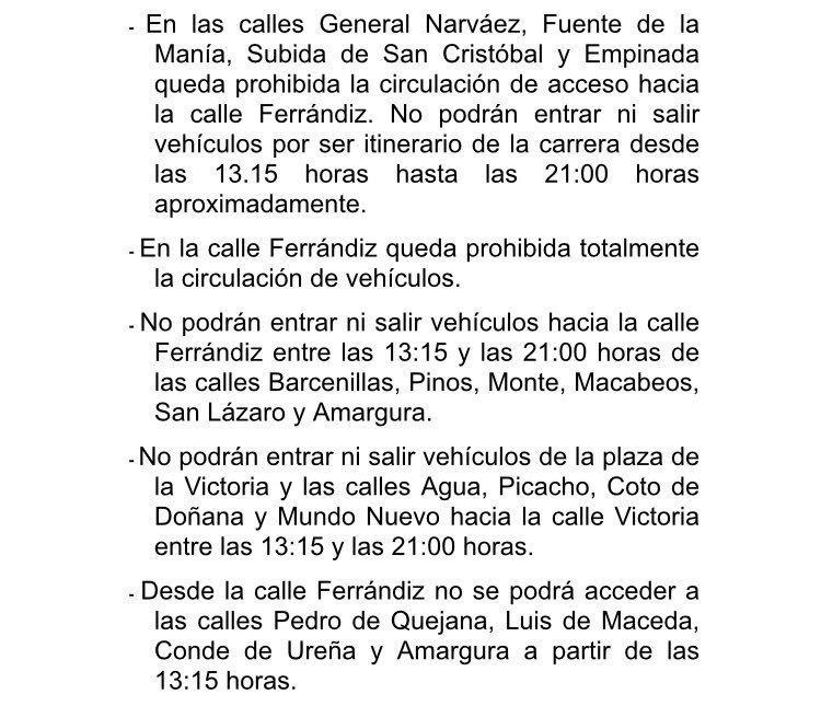 🚦Las calles Ferrándiz y Victoria y su entorno se verán especialmente afectadas en sus accesos desde las 13:15 hasta las 21 horas aproximadamente bit.ly/2vAwZSf #LaVuelta18