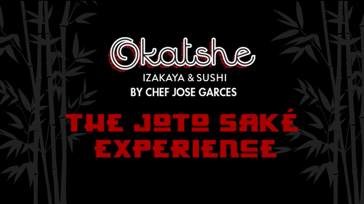 Join Chef Jose Garces for the Joto Sake Experience at @okatshe on September 14th at 7pm. Saké specialist, Ryan Mellinger, will guide you through a variety of Sakés. Following the tasting, enjoy a 4-course dinner. For more info and tickets visit the link! https://t.co/8uZFkeeXim