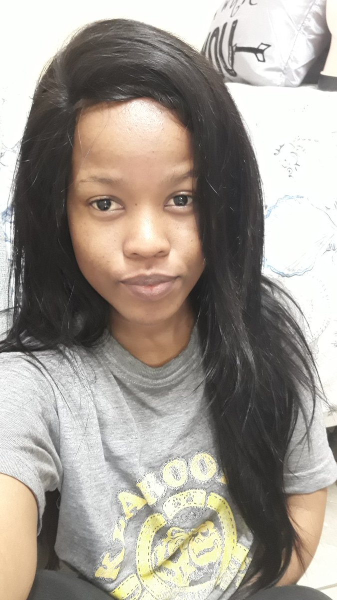 Young update: #GirlTalkZA Made a wig, and the hair is REALLY long (or maybe Im very short.🤔)and its voluminous.