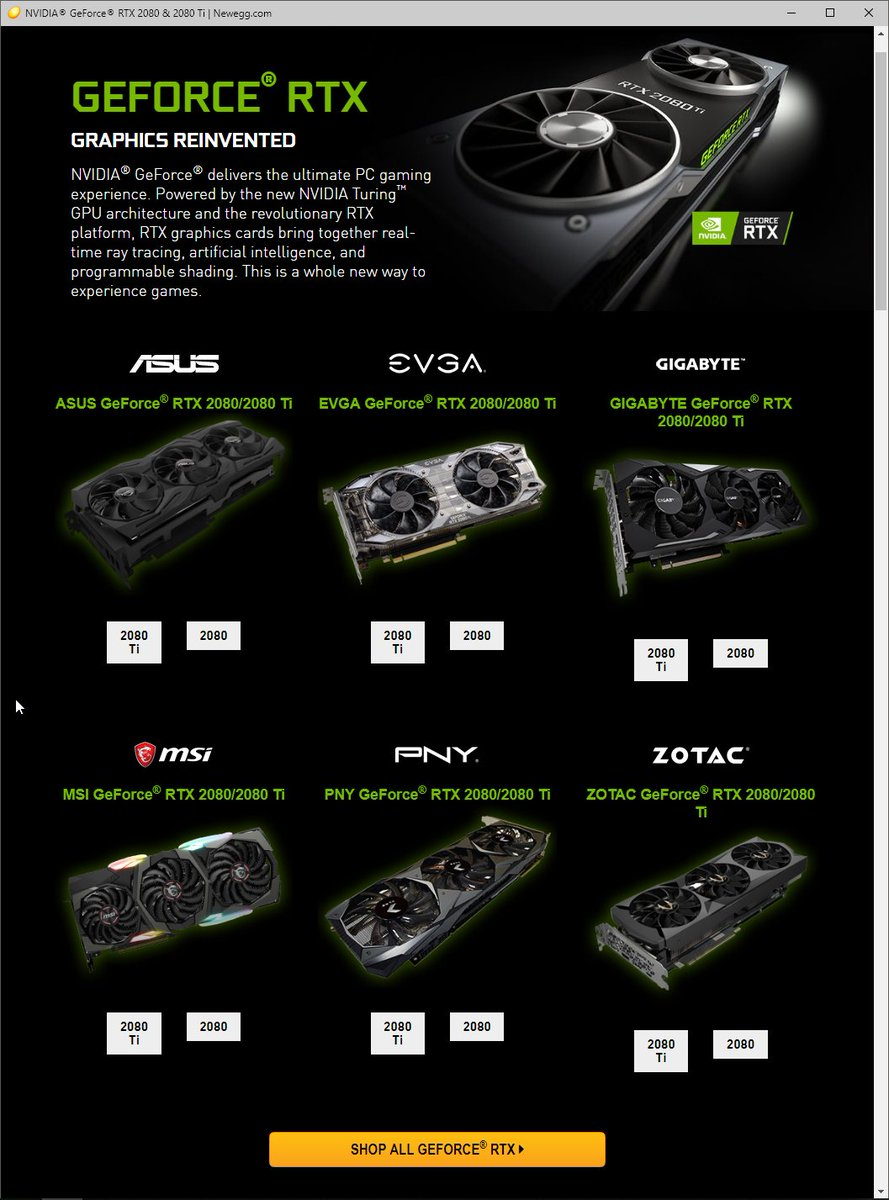 """@NVIDIAGeForce and the RTX 2080 and 2080 Ti at @Newegg… """""""
