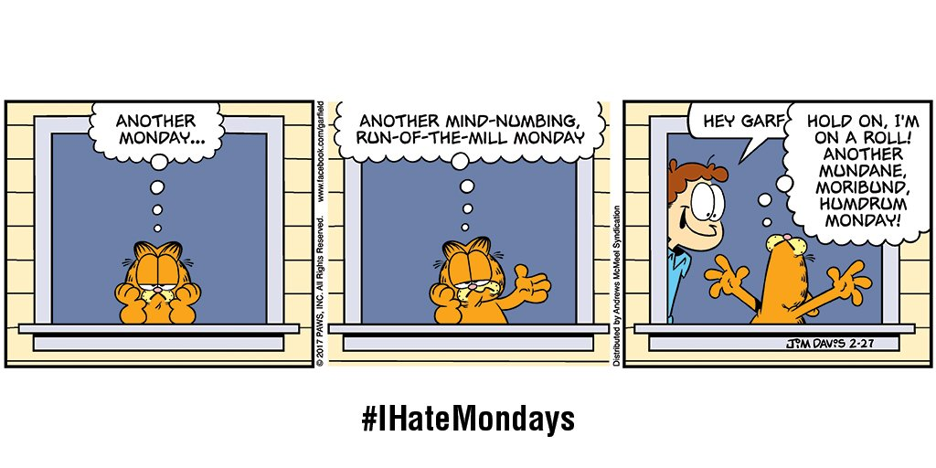 Well, here we go again. #IHateMondays