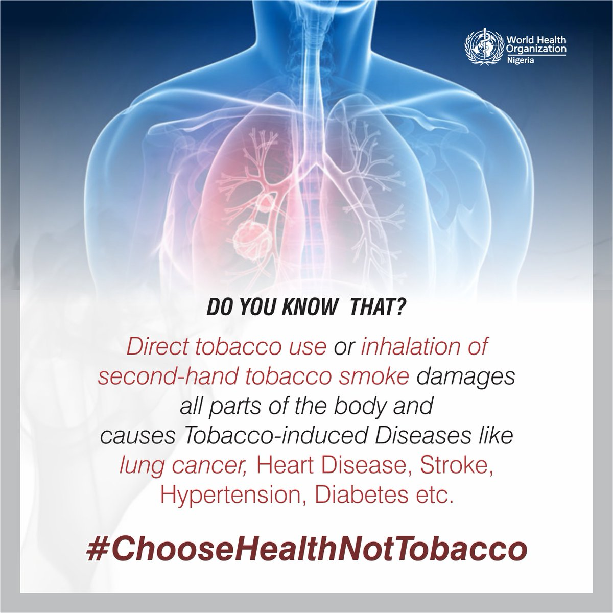 tobacco use and the damages to the human body Tobacco-related disparities african americans and tobacco use cigarette smoking harms nearly every organ of the body, causes many diseases, and reduces the health of smokers in general1,2 smoking can cause lung disease by damaging your airways and the small air sacs (alveoli) found in.