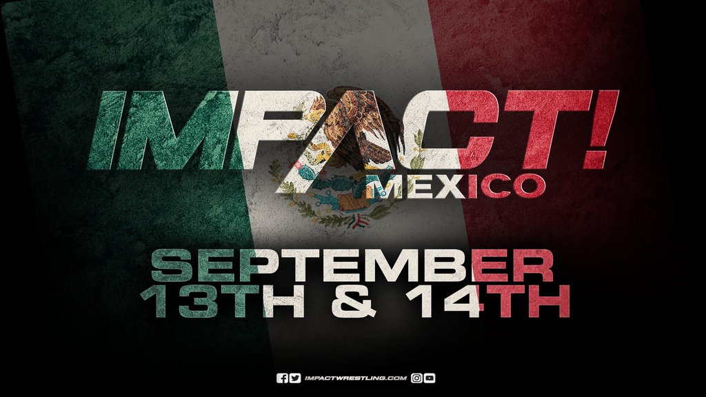 BREAKING NEWS: IMPACT is going to Mexico! Were taping episodes of IMPACT on September 13th and 14th at Frontón México in Mexico City, Mexico, marking the first time the flagship weekly show IMPACT! will emanate from south of the border. FULL DETAILS: impac.tw/MexicoTV