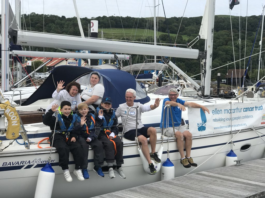 We're super excited to have arrived @yachthavenlargs after a long journey from Manchester children's hospital this morning! 👋 #ConfidenceafterCancer