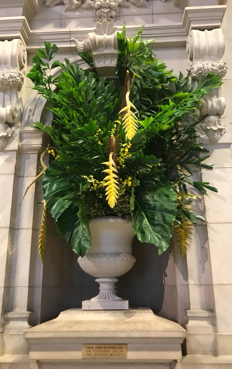 This week's floral arrangement in The Great Hall!