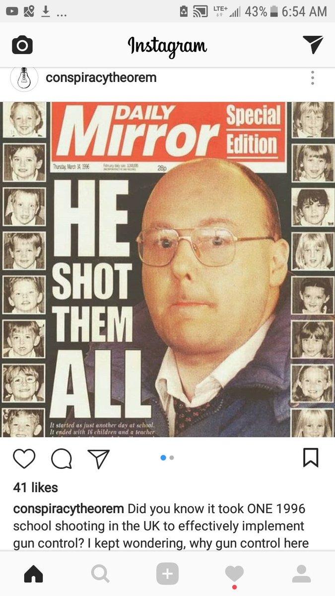 #guncontrol in the UK started with alleged #falseflag #schoolshooting too...