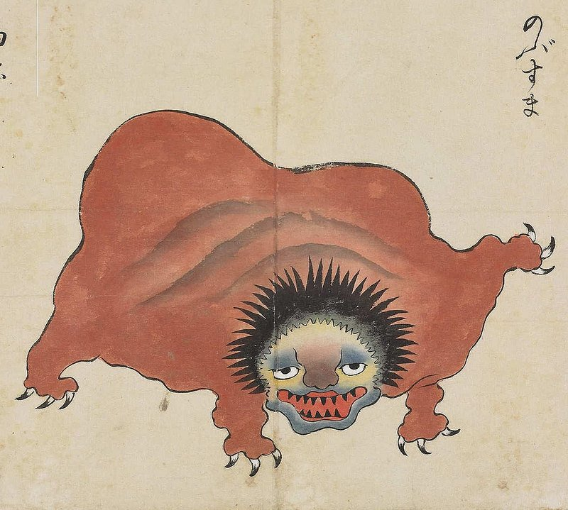 """Monday monster — from the Bakemono Zukushi """"Monster"""" Scroll (18th–19th century). More here:  https:// publicdomainreview.org/collections/th e-bakemono-zukushi-monster-scroll-18th-19th-century/ &nbsp; … <br>http://pic.twitter.com/0lJy3fXxOz"""