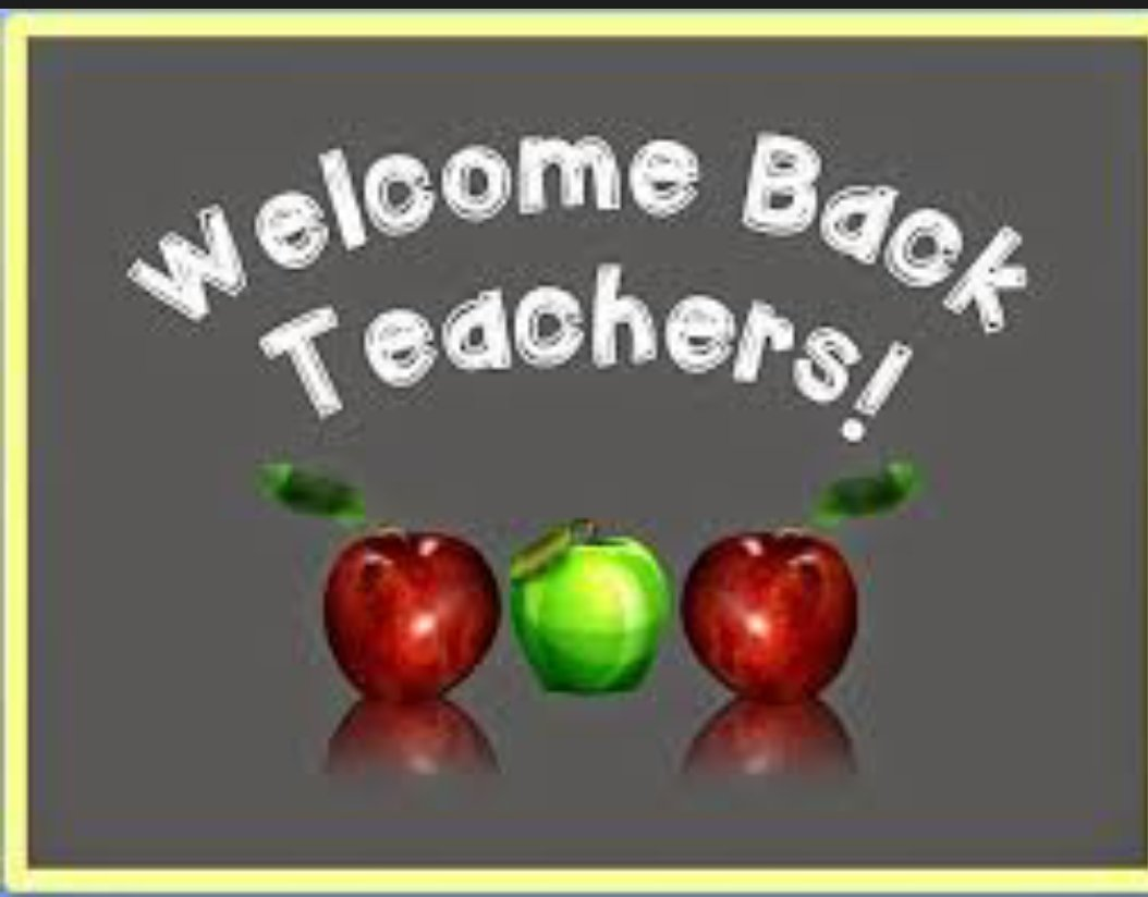 Welcome back! Let's make it a great year in #THEDISTRICT! #WeDeliverExcellence