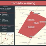 Image for the Tweet beginning: Tornado Warning continues for Bellefontaine