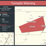 Image for the Tweet beginning: Tornado Warning including Paragould AR,