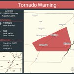 Image for the Tweet beginning: Tornado Warning continues for Paragould