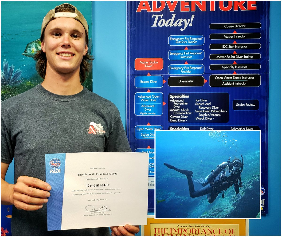 Adventure Dive Center On Twitter Congratulations To Theo For
