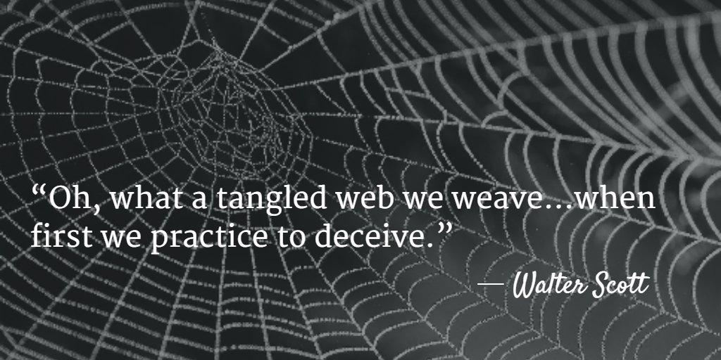 Marek Koniowski On Twitter Oh What A Tangled Web We Weave