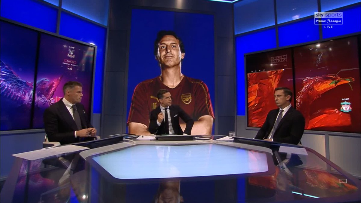 Does Unai Emery need to adapt his style at @Arsenal? Safe to say @GNev2 and @Carra23 arent seeing eye to eye on this one! 👁️ Watch live on @SkySportsPL as @CPFC take on @LFC at Selhurst Park in the first #MNF of the season or follow it here: skysports.tv/P5Bqiu