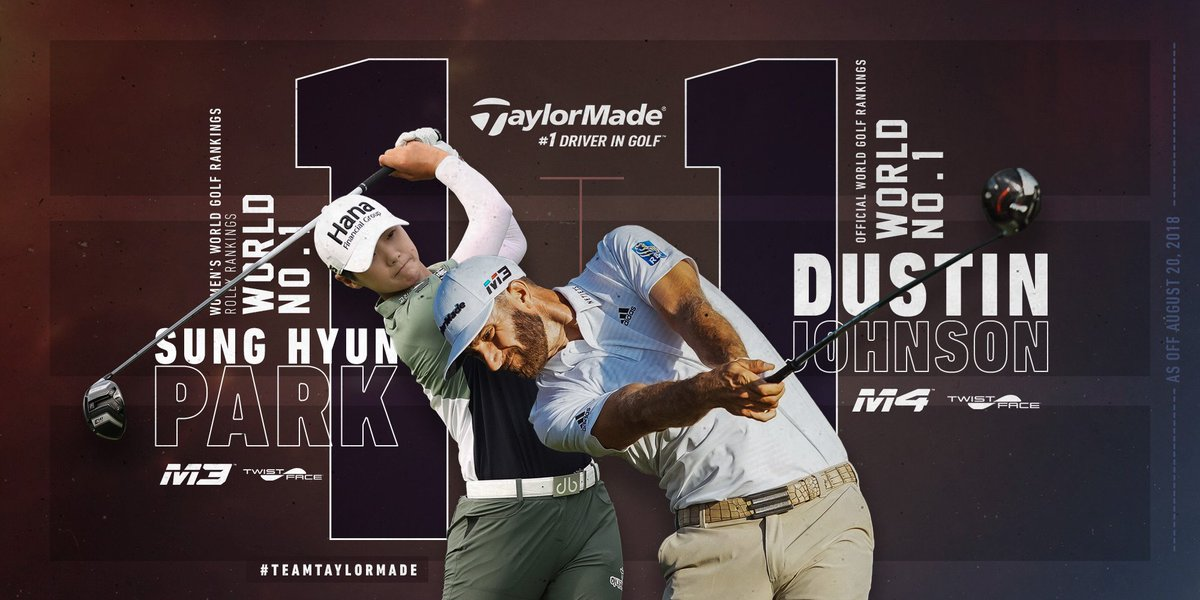 WORLD NO. 1 & WORLD NO. 1 — The top-ranked player in both men's and women's golf choose the performance of TaylorMade. #TwistFace #1DriverinGolf