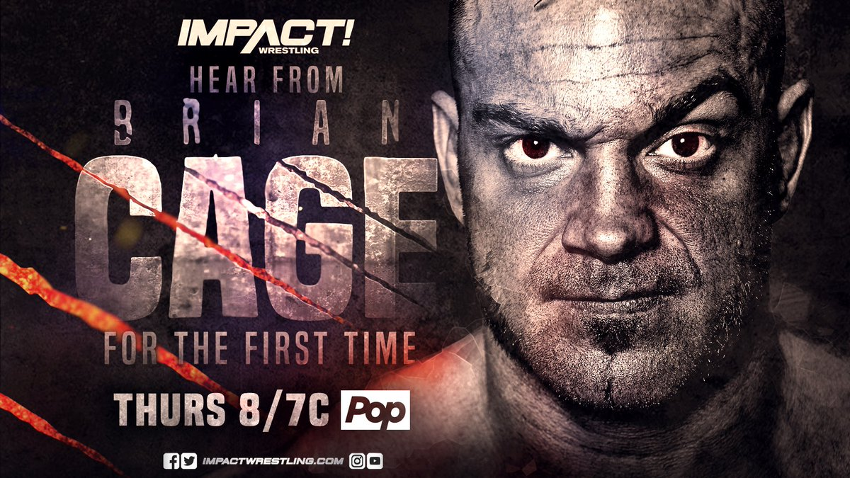 THIS THURSDAY - The Machine speaks for the first time! What will @MrGMSI_BCage have to say? #IMPACTonPop MORE: impactwrestling.com/for-the-first-…
