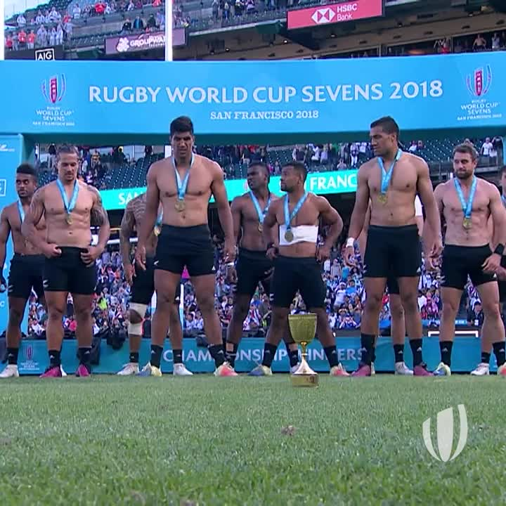 At No.1 for our most viewed videos at Rugby World Cup Sevens 2018, its @AllBlacks7s with their victorious Haka!