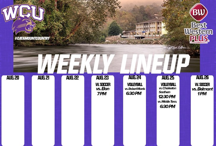 Weekly Line up - ending Aug 26