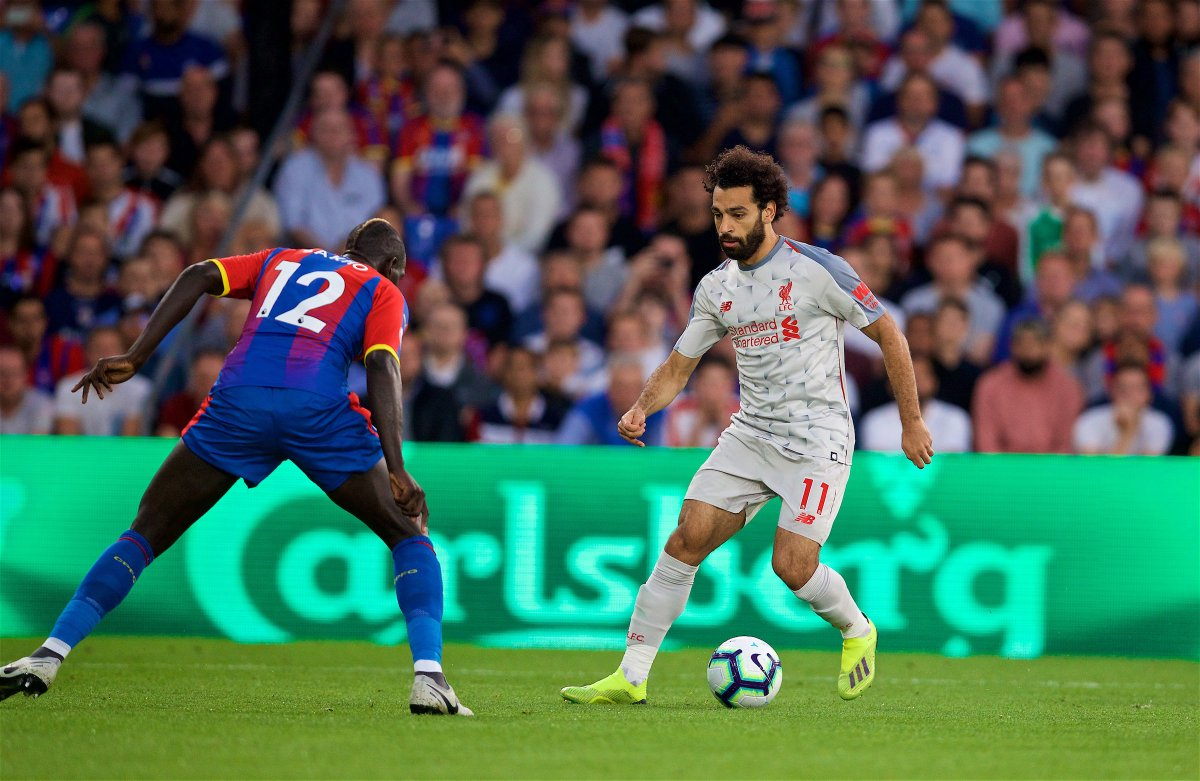 22 Magnificent turn and pass from Naby Keita to feed @MoSalah through on goal. Salah chips the ball over the bar. [0-0] #CRYLIV